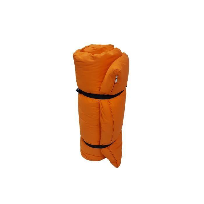 FUTON Futon Portable Orange, 200x140x4 cm