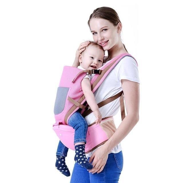 6fd974e34b2 Porte bébé ventral et dorsal Haute qualité Rose – Confort