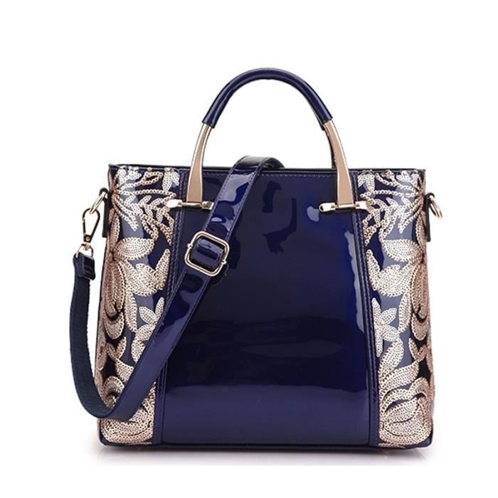sac à mainFemmes Sac en cuir Lady épaule de brevet célèbre marque de mode Sac Femme OL fête de mariage Sac Bolsa-2847