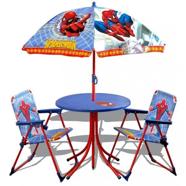 Ensemble salon de jardin enfants - Spiderman - … - Achat / Vente ...