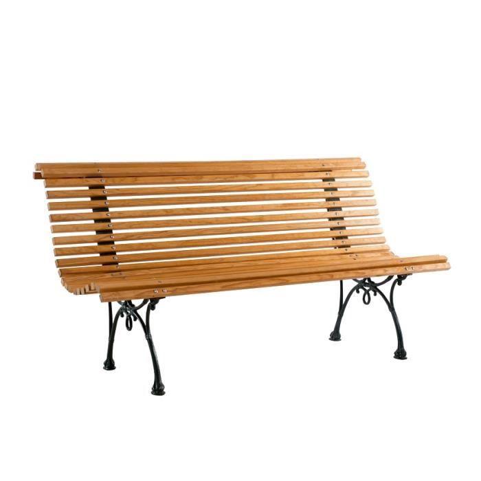 Banc de jardin en bois et fonte Dommartin Campo 6210033VTBAN - Achat ...
