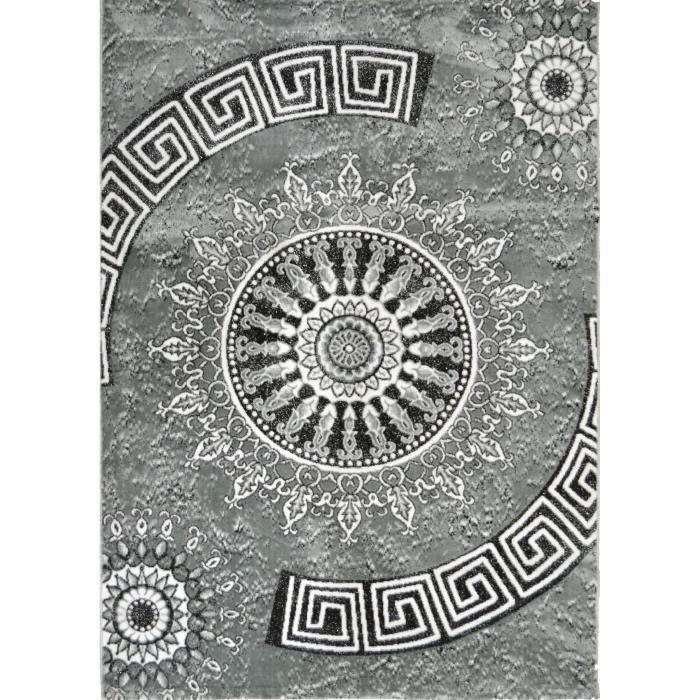 tapis shaggy gris 160x230 cm achat vente pas cher. Black Bedroom Furniture Sets. Home Design Ideas