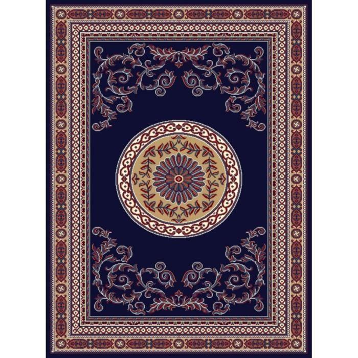Tapis D Orient Contemporain 160 230 Bleu Nuit Achat Vente Tapis