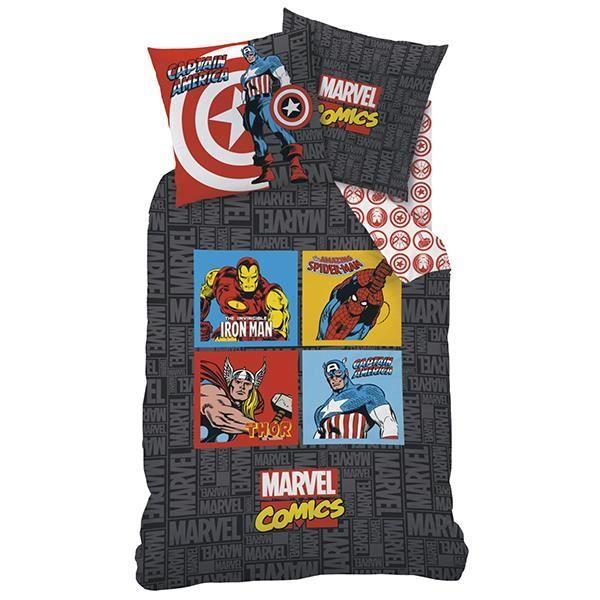linge de lit marvel Parure de lit Avengers Marvel Comics 140x200 cm   Achat / Vente  linge de lit marvel