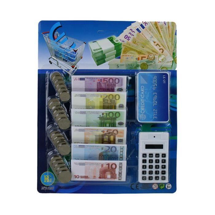 Faut Billet Carte Bancaire Pices Calculatrice Argent Factice Jouet Marchand