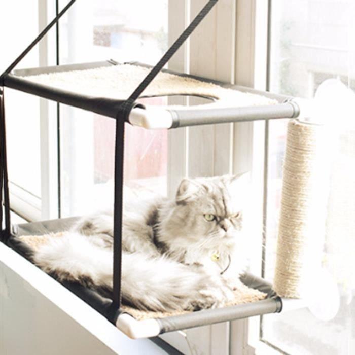 Hamac Pour Chat Siège Panier Lit Fenêtre Monté Ensoleillé Ventouse