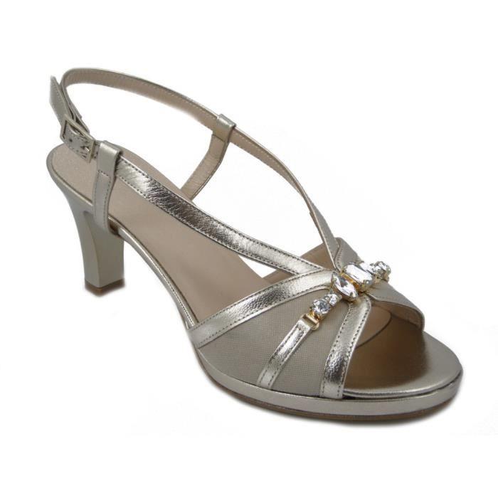 72DAV, sandale en cuir nappa noir, talon 11cm. et le plateau 2cm., 642