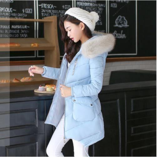 bas prix 3af63 03186 Veste-Manteaux pour femme - Parkas doudoune longue bleu ciel ...