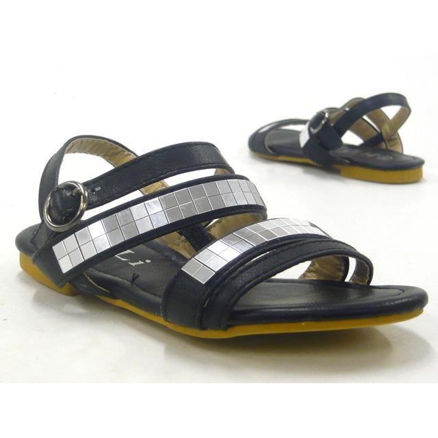 enfants chaussures sandales de douceur fille Sandale noir 25 tib2rzYJpZ