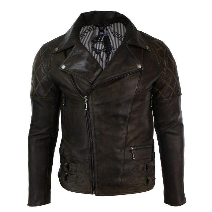 Croisé Taille Veste Hommes En Coupe Beige Rétro Biker Slim Marron Zip Véritable Rock 3hs0hq s Cuir Vintage Aviatrix IwBWqCana