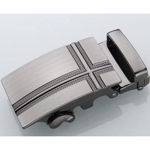 Classique Boucle de ceinture Automatique en Argent pour ceinture cuir Forme  Croix 00ec3730cdc