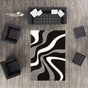tapis salon rouge et gris achat vente tapis salon rouge et gris pas cher cdiscount. Black Bedroom Furniture Sets. Home Design Ideas