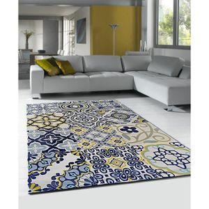Tapis Bleu Jaune Idées Dimages à La Maison - Carrelage pas cher et tapis 240x170