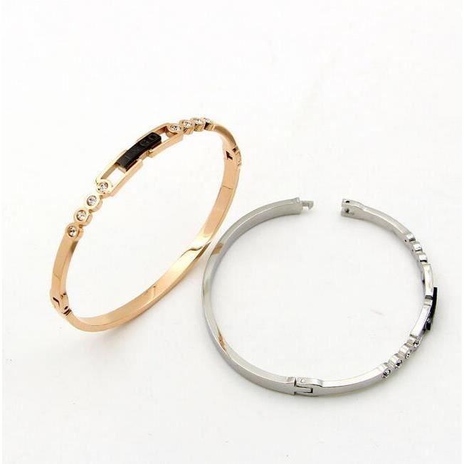 Bracelet femme Tendance mode noir anglais avec bracelet hypoallergénique à boucle sombre