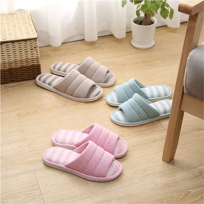 chaussure femme Poids Léger chausson hiver chaud maison Classique Confortable pantoufles femmes fantaisie Plus De Couleur