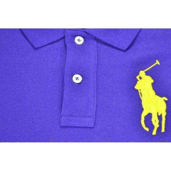 Polo manches courtes Ralph Lauren Big Poney pour femme Violet Violet -  Achat   Vente polo - Cdiscount 6adf0648f91