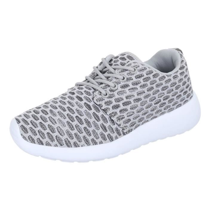 Femme chaussures loisirs chaussures Sneakers chaussures de sport gris 36