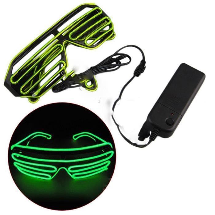 LED Fluorescent Glow 343 Flash Dance Lnt soleils Lunettes Voir qRanxO8tw