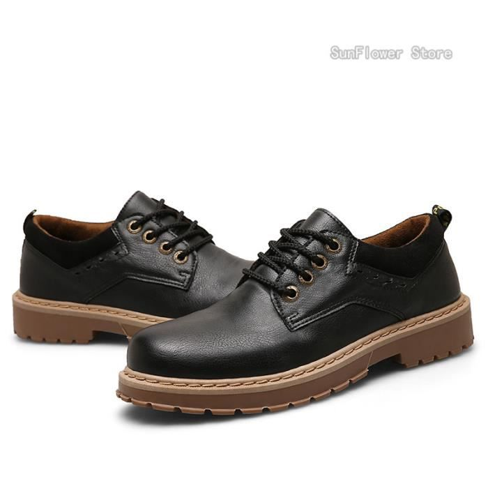 Chaussures de cuir des hommes casual chaussures Chaussures de ville - Noir 8qrK5wgVl