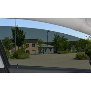 Megane (2) 3 portes (2002 - 2009) Kit 3/4 arri?re black 05 film teinté découpé et thermoformé sur mesure