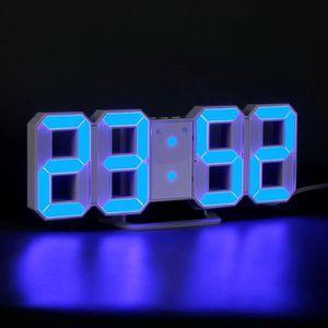 HORLOGE - PENDULE LED Horloge Murale Numérique 3 Luminosité Réveil H
