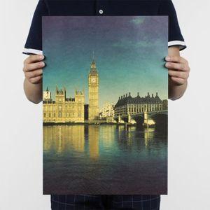 AFFICHE - POSTER Rétro Affiche en Papier Kraft Poster - Londres - C