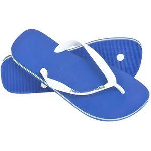 TONG HAVAIANAS Tongs Logo Brésil - Mixte - Bleu marine