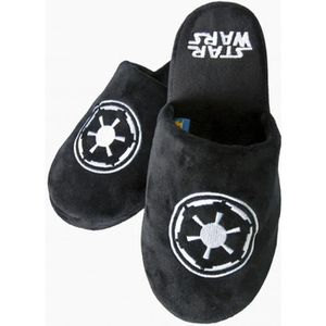 CHAUSSON - PANTOUFLE Chaussons Adulte Noirs Galactic Star Wars