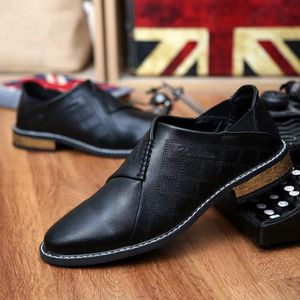 Nouveau style avant et arrière en métal Cap Hommes velours Chaussures Mode Hommes Mocassins bout pointu et mariage Party Slip Noble 4hCOwMoz