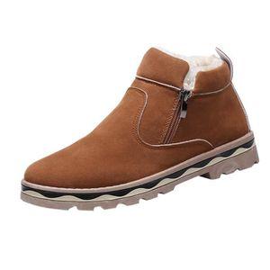 New Hiver Hommes Chaussures Casual Chaussures chaudes en coton de haute Top  Chaussures à lacets épais Bas Bottes de neige Noir Noir - Achat   Vente  botte ... 21a0f052c3b0