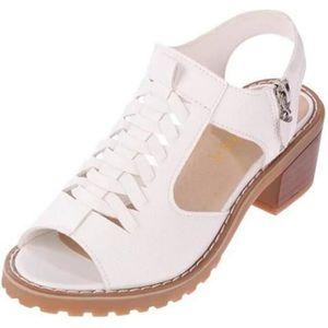 57ae5956b9adf SANDALE - NU-PIEDS Sandales Femme Chaussures Talons Hauts Compensées ...