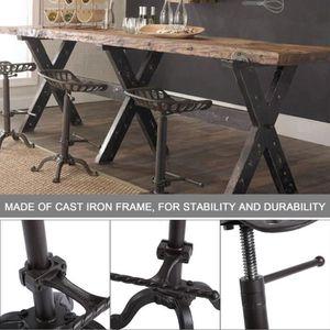 Tabouret De Bar Reglable Siege Tracteur Chaise Industrielle Haute Et Basse