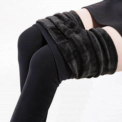 Panlom® Hiver Chaud Elastique Thermique Leggings Slim Pantalon Collant  Velours -Noir 34b3c0f5d4f