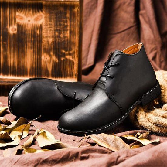38 Couleur Charmant Meilleure Qualité De Bottine Chaussure 47 Plus Homme Brand gfYbyv76