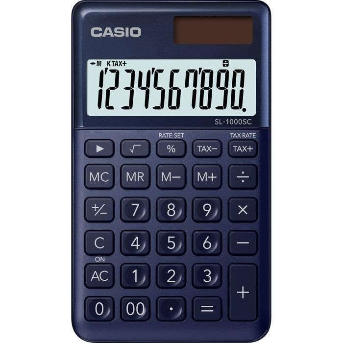 CASIO Calculatrice de poche SL-1000SC-NY-S-EP bleue