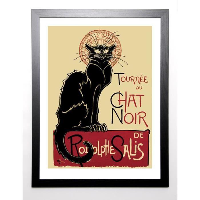 STEINLEN Image encadrée Tournee du Chat Noir, 1896 67x87 cm Multicolore