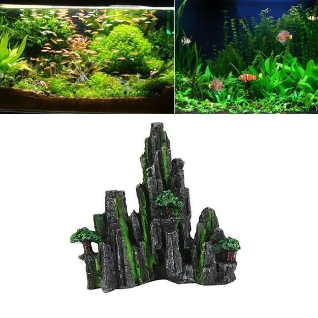 Plante D'aquarium Aquarium Décoratif Eau Paysage Montagne Artificielle 116b-0176