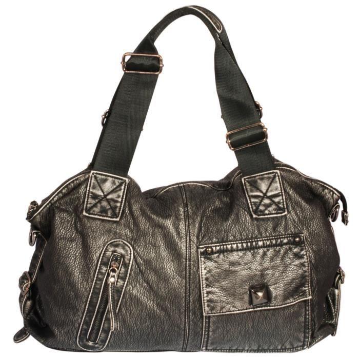 H & j Rétro haute qualité Pu Sac en cuir Grand épaule grand fourre-tout Sac à poignée avec ZS8YA