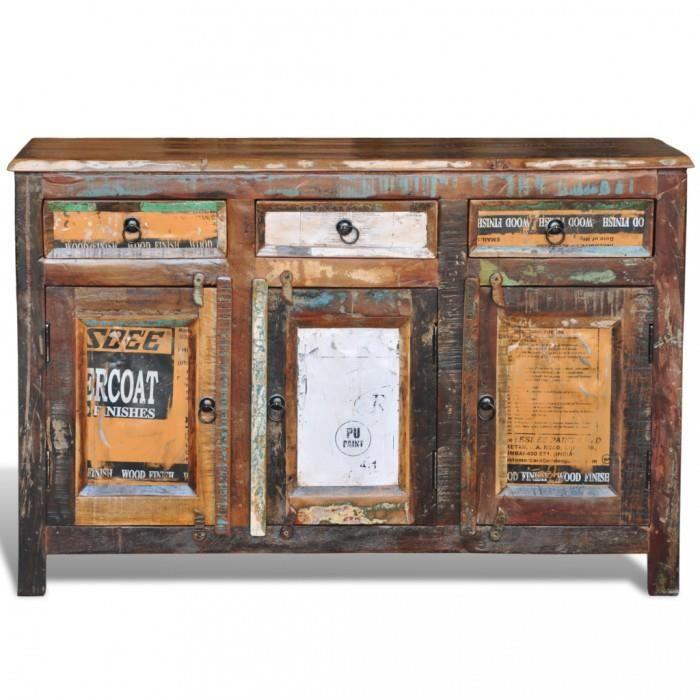 Armoires Et Meubles De Rangement Cabinet Vintage Multicolore