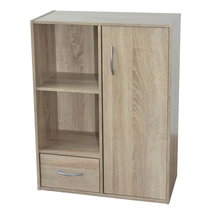 Alsapan 483668 meuble de rangement panneaux ch ne 62 x 30 for Meuble rangement hauteur 110 cm