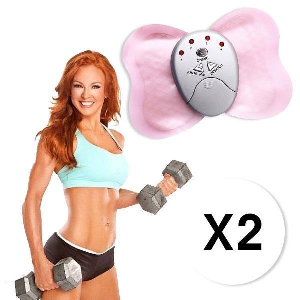 Papillon De Massage Electro Stimulateur Fitness Quick Masseur Plus Lot de 2