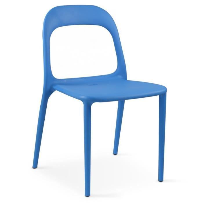 Chaise en plastique de jardin Bleu - Achat / Vente salon de jardin ...