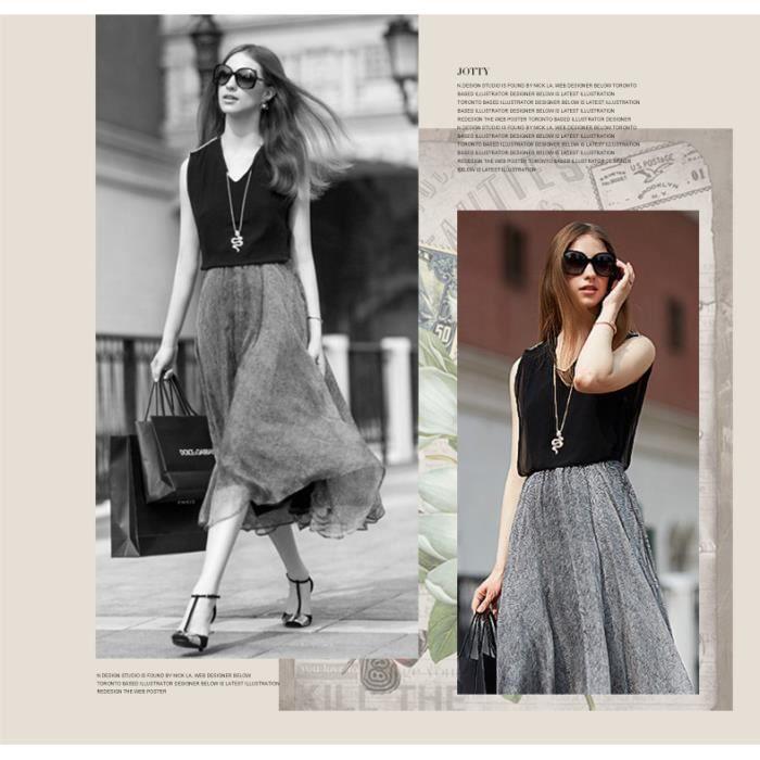 LEurope et les États-Unis au printemps et en été 2015 haute couture grands chantiers robe sans manches en mousseline de soie -FindP