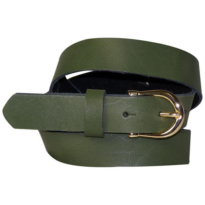 FRONHOFER Fine ceinture pour femme de 2,5 cm avec une boucle en fer à cheval  dorée, ceinture en cuir bon marché, 17875 2831cfdb4a9