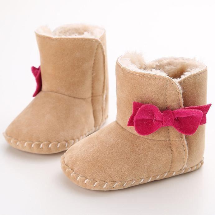 Bébé garder chaud semelle molle bottes de neige Soft berceau chaussures tout-petits kaki PMrAGEWPV