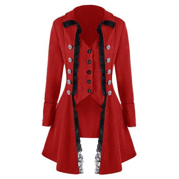 Frac Redingote Hommes Veste Costume Gothique Manteau Uniforme Praty zqPTwc