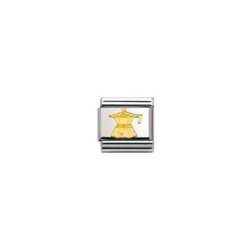Nomination 030109 - Maillon Pour Bracelet Composable Mixte - Acier Inoxydable Et Or Jaune 18 Cts GQT42