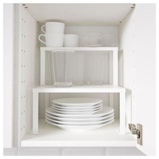 IKEA VARIERA Demi étagère, blanc   Achat / Vente petit meuble