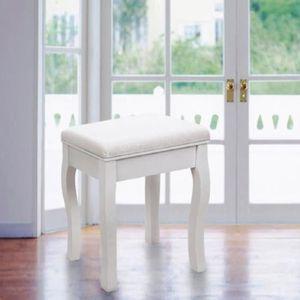 tabouret coiffeuse blanc achat vente pas cher. Black Bedroom Furniture Sets. Home Design Ideas