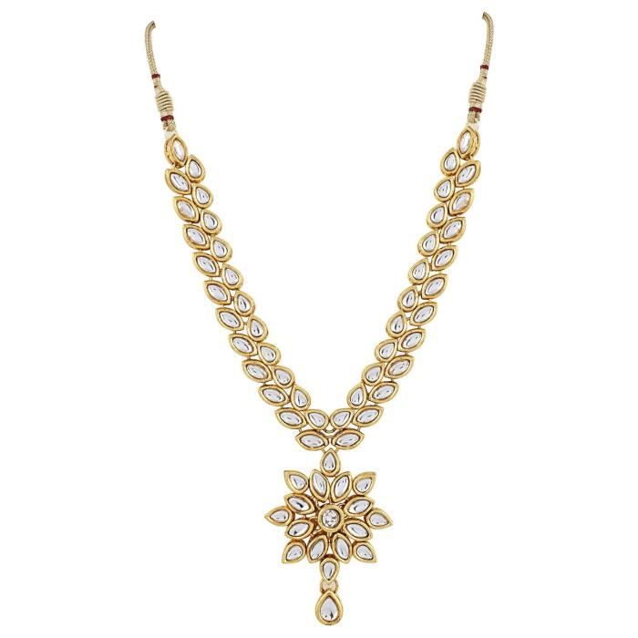 Womens Shining Diva Jewelry Gold Plated Kundan Fancy Party Wear Necklace For Traditional Jewellery Q4ATK